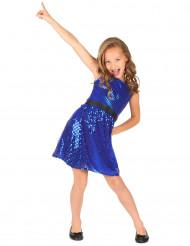 Costume blu con paillettes disco bambina