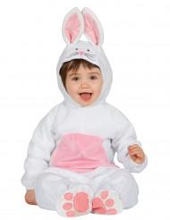 Travestimento da coniglietto bianco e rosa per neonato