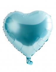 Palloncino di alluminio cuore turchese 46 cm