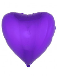 Palloncino di alluminio cuore viola 76 cm