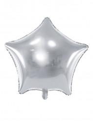 Palloncino alluminio stella argentata 45 cm