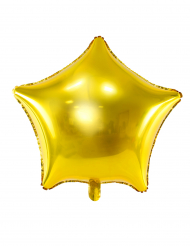 Palloncino alluminio stella dorata 45 cm