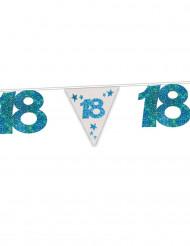 Ghirlanda blu con brillantini 18 anni