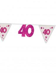 Ghirlanda rosa e bianca 40 anni
