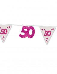 Ghirlanda rosa e bianca 50 anni