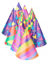 10 cappelli da festa motivi multicolor