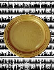 50 piattini da dessert in plastica dorati 16 cm
