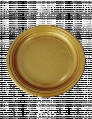 30 piatti di plastica dorati 22 cm