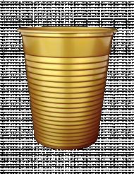 50 bicchieri di plastica dorati