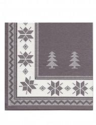 12 tovaglioli natalizi di carta Premium color tortora