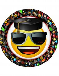 8 piatti laurea Emoji™ 22 cm