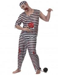 Costume da prigioniero zombie per uomo