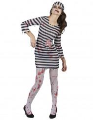 Costume da priogioniera zombie per donna