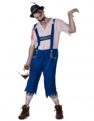 Costume da zombie bavarese per uomo