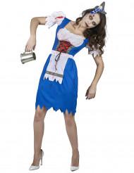 Costume da bavarese zombie per donna
