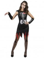 Costume da scheletro cuore vivo per donna