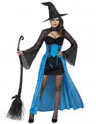Costume da strega turchese per donna