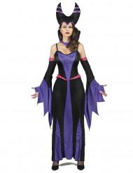 Costume malefica viola e nero per adulto