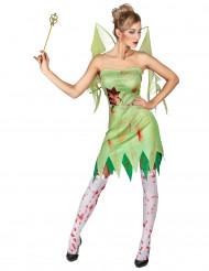Costume verde da fata insanguinata da donna