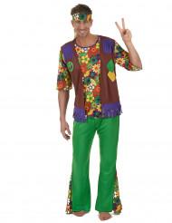 Costume hippie floreale per adulto