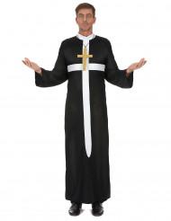 Travestimento da prete con croce per adulto