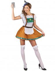 Costume marrone da bavarese da donna