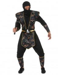 Costume da ninja dragone d'oro per adulto