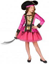 Costume piratessa rosa e oro bambina