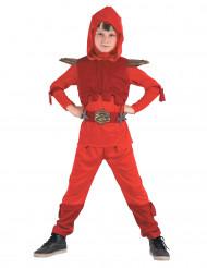 Costume ninja royal color rosso per bambino