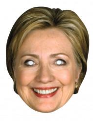 Maschera in cartone Hilary Clinton