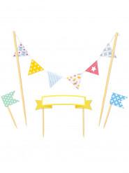Decorazioni con bandierine colorate per torte