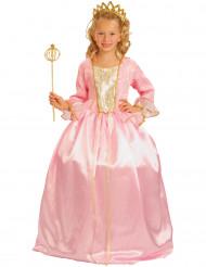 Travestimento principessa rosa lusso per bambina