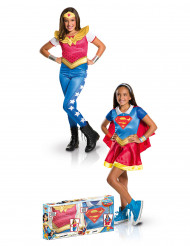 Cofanetto per travestimento di coppia Supergirl™ e Wonder Woman™ per bambina