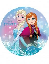 Disco di ostia con le sorelle Frozen™ 20 cm
