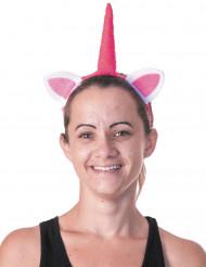 Cerchietto unicorno rosa per adulti