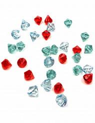 30 finte pietre preziose colorate