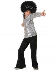 Costume argento stile disco bambino