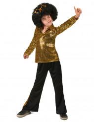 Costume oro stile disco bambino