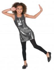 Costume argento stile disco per bambina