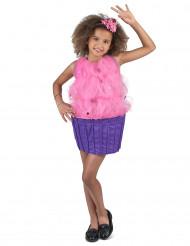 Costume da cupcake viola e rosa per bambina