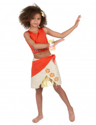 Costume hawaiano color corallo bambina
