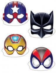 4 maschere in cartone super eroi