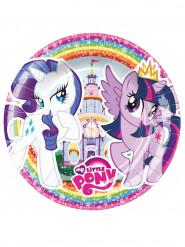 8 piattini di carta My little pony™ 18 cm