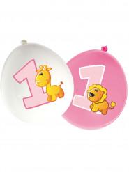 16 palloncini di lattice Animali 1 anno bimba
