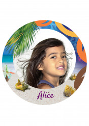 Disco di zucchero Aloha personalizzabile 20 cm