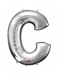 Palloncino alluminio argento lettera C