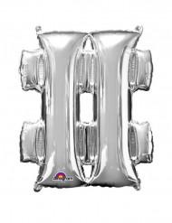 Palloncino alluminio gigante # argento 68 x 83 cm