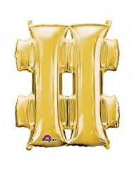 Palloncino alluminio gigante simbolo # color oro