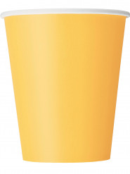 8 bicchieri in cartone giallo girasole 270 ml