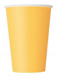 10 bicchieri in cartone giallo girasole 355 ml